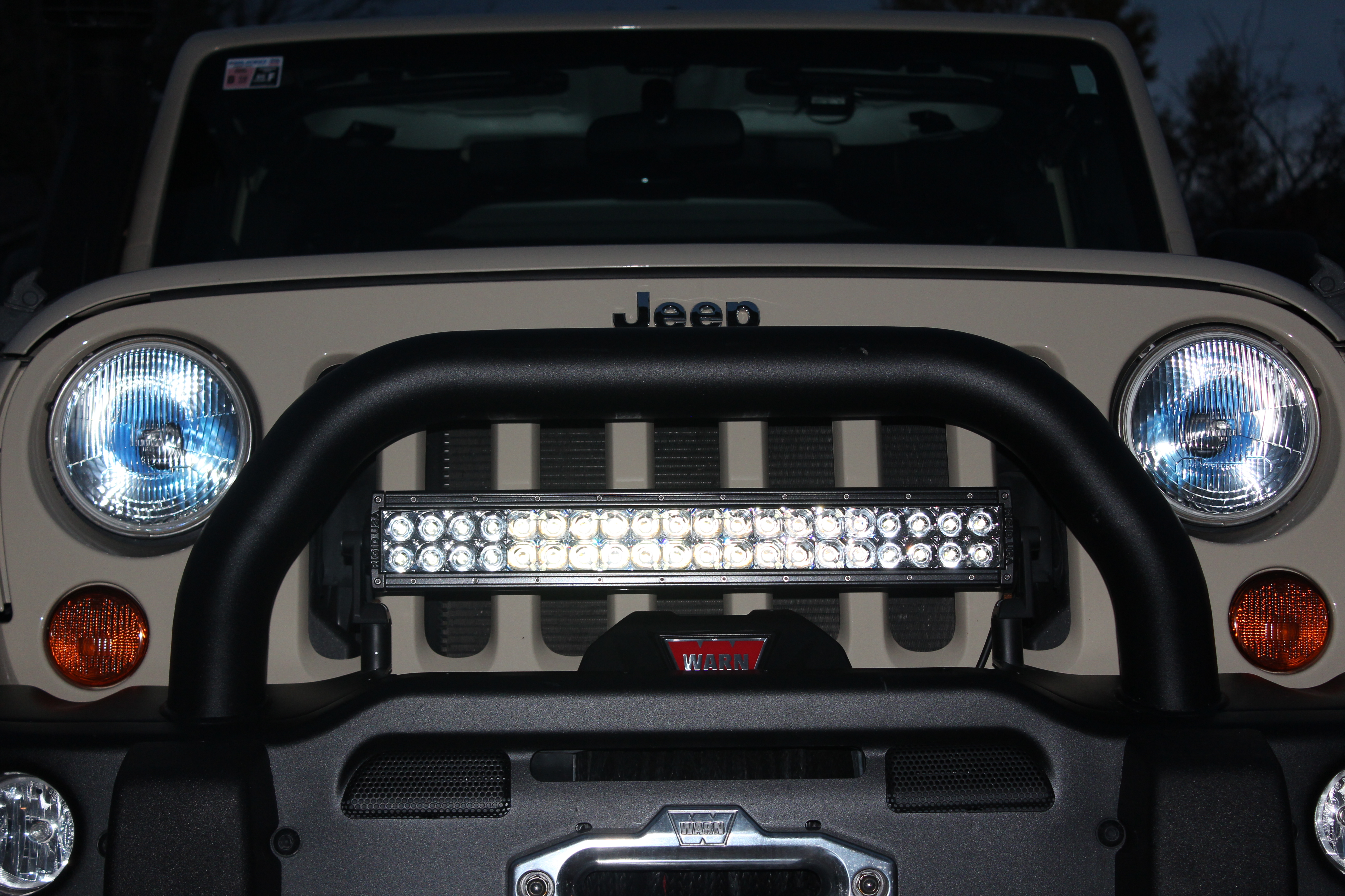Aev premium front bumper review revolution expedition but aev front w warn winch and ri 20 light bar aloadofball Image collections